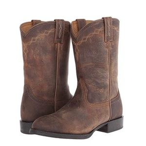 ARIAT Heritage Western Roper Tan Cowboy Boot-7.5